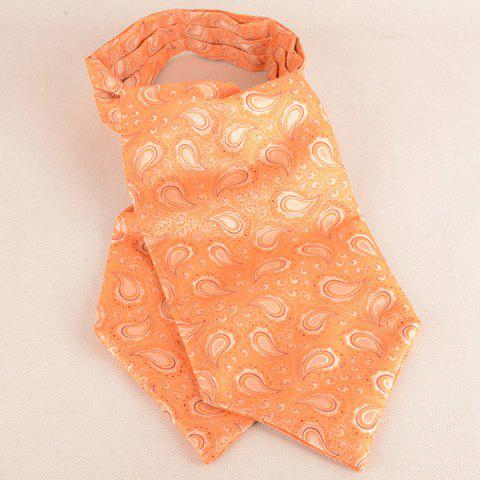 New Paisley Bowtie Ascot Tie Handkerchief - ORANGE  Mobile