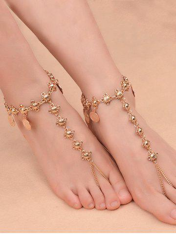 Shop 1PC Vintage Coins Fringed Slave Charm Anklet - GOLDEN  Mobile