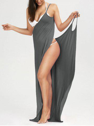 b9efa40418713 Beach Maxi Wrap Cover Up Long Slip Dress