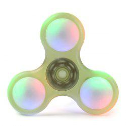 Plastic LED Light Fidget Spinner Finger Gyro