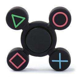 Play Station Pattern Fidget EDC Finger Spinner - BLACK