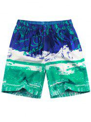 Hook and Loop Pocket Graphic Pattern Board Shorts