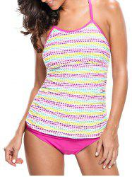 Braided Back Dotted Tankini Set