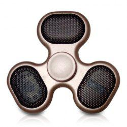 Focus Toy LED Bluetooth Speaker Musical Triangle Hand Spinner - GOLDEN