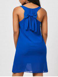 Bowknot Chiffon Tank Dress - BLUE