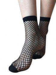 Oversized Fishnet Ankle Socks