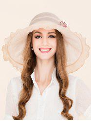 Mulberry Silk Flowers Flouncing Brim Sun Hat