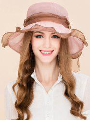 Breathable Lacing Bowknot Mulberry Silk Sun Hat