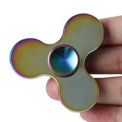 Colorful Tri-Bar Fidget Metal Spinner Stress Relief Toy - COLORMIX