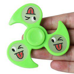 Glow In The Dark Emoticon EDC Fidget Spinner - GREEN