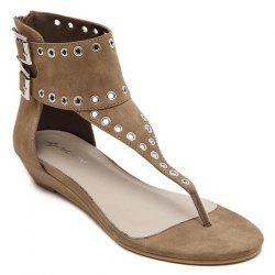 Sandales Oeillets Zipper -