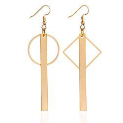 Rhombus Round Bar Hook Earrings