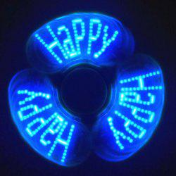 Stress Reliever EDC Fidget Spinner with Letters LED Light - GREEN