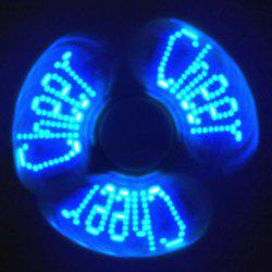 Stress Reliever EDC Fidget Spinner with Letters LED Light - RED