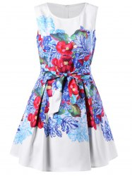 Flower Sleeveless Party Dress