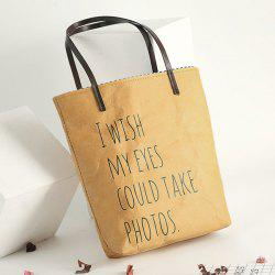 Paper-Like Graphic Print Shopper Bag -