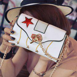 Stars Chain Crossbody Bag - WHITE