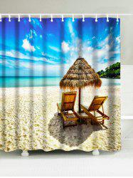 Sun Loungers Beach Bathroom Waterproof Shower Curtain