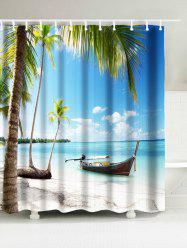 Beach Coconut Tree Waterproof Shower Curtain