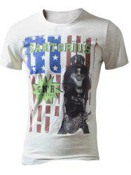 American Flag Printed Graphic Tee