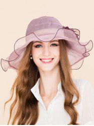 Floral Design Flouncing Mulberry Silk Sun Hat