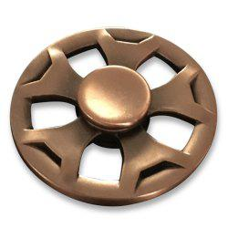 Round Fidget Metal Spinner Anti-stress Plaything