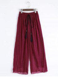 Tassels High Waisted Wide Leg Pants