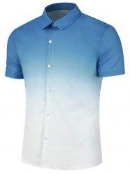 Ombre Print Slim Fit Casual Shirt -