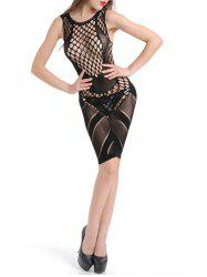 Sleeveless Diamond Fishnet Dress