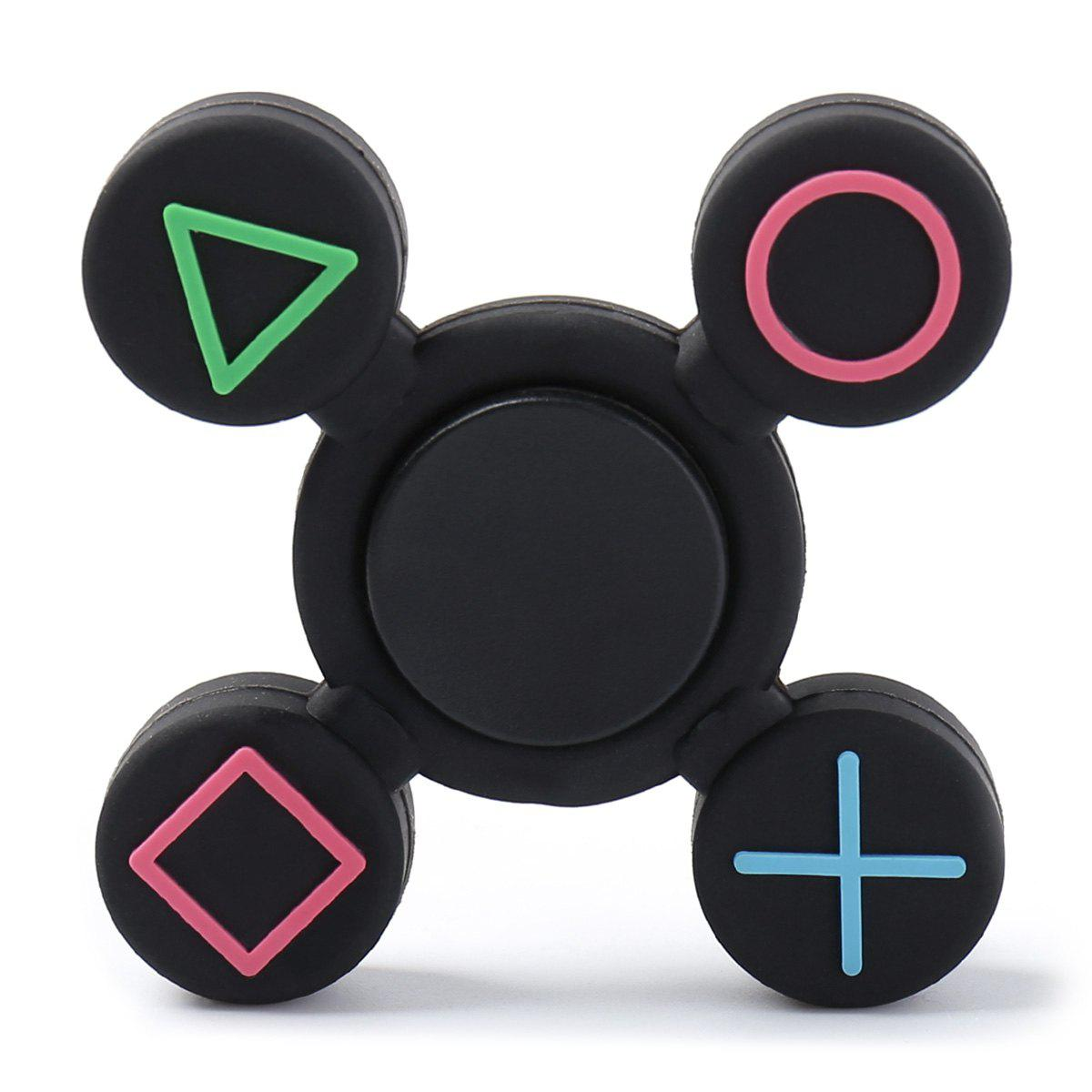 Play Station Pattern Fidget EDC Finger SpinnerHOME<br><br>Size: 7*7*1.2CM; Color: BLACK; Products Type: Fidget Spinner; Theme: Funny; Frame material: Plastic; Features: Creative Toy; Shape/Pattern: Games Controller; Swing Numbers: Quad Bar; Weight: 0.0350kg; Package Contents: 1 x Fidget Spinner;