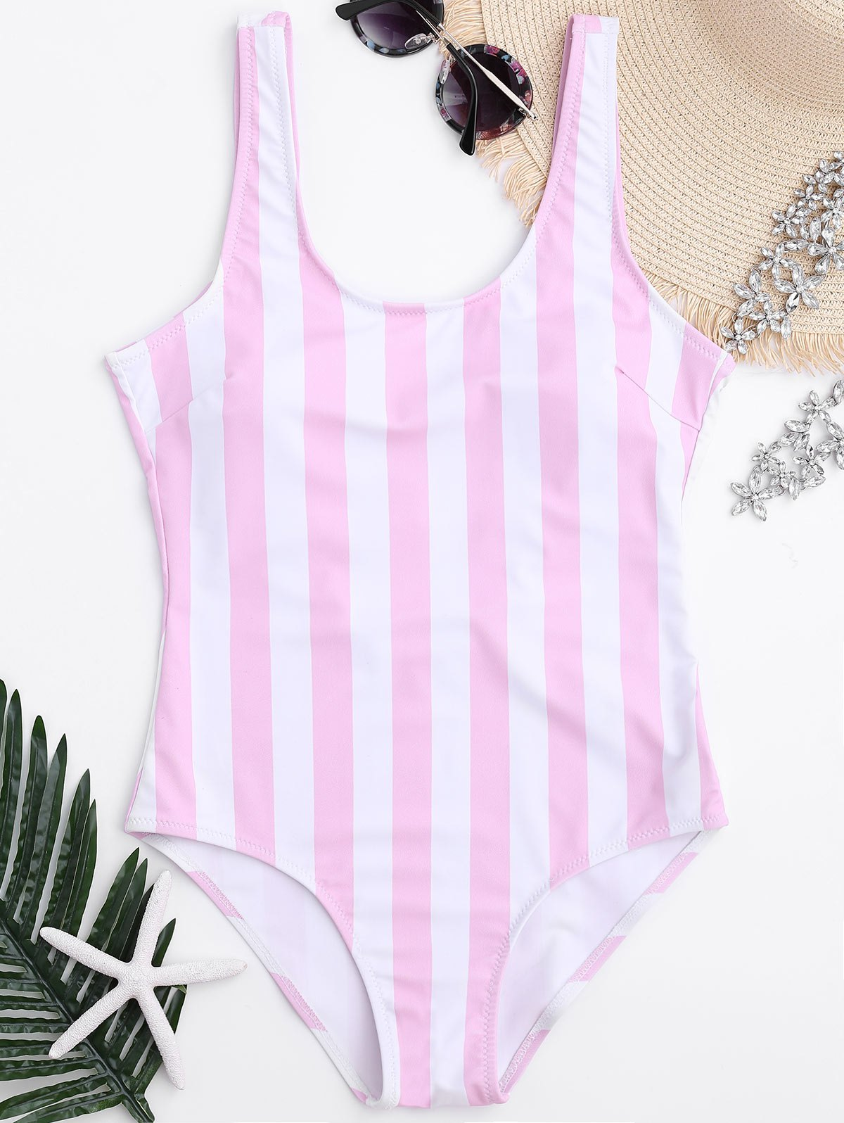 Chic Shaping Striped One Piece Swimsuit
