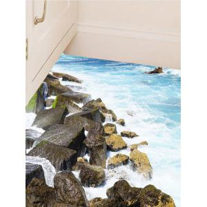 Removable Vinyl 3D Rock Sea Floor Sticker -