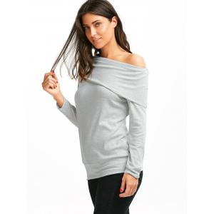 Off The Shoulder Multiway T-Shirt - GRAY M