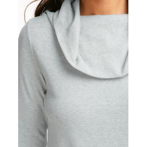 Off The Shoulder Multiway T-Shirt - GRAY L