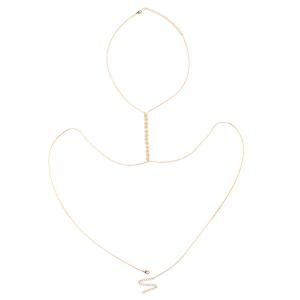 Adjustable Sequin Alloy Body Chain - GOLDEN