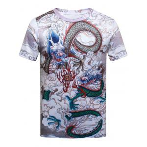 Dragon Printed Short Sleeve T-shirt