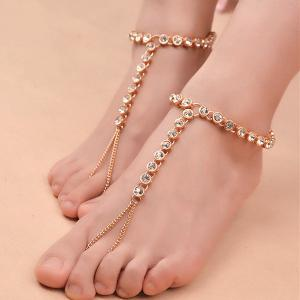 1PC Rhinestone Slave Chain Anklet -