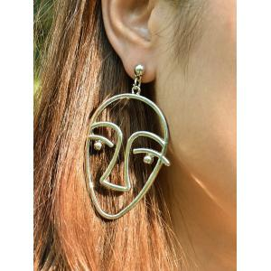 Funny Metal Face Drop Earrings