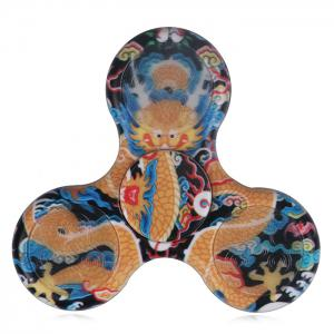 Dragon Plastic Patterned Hand Spinner with LED Lights - Yellow - 8*8*1.2cm