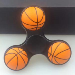 Anti-stress Toy Tri-bar Plastic Basketball Fidget Spinner -