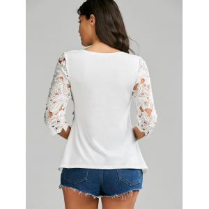 Crochet Lace Panel Top - WHITE ONE SIZE
