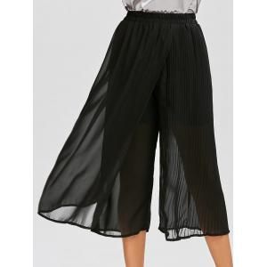 Chiffon Pleated Crop Palazzo Pants