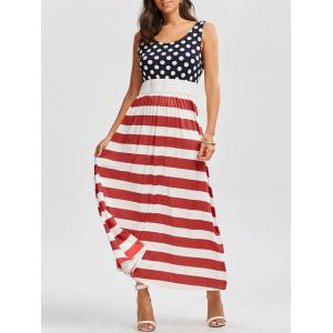 Casual American Flag Maxi Swing Dress