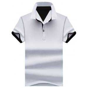 Two Tone Half Buttoned Polos