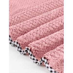 Pineapple Grid 3PCS Coral Fleece Soft Bath Towel Set -