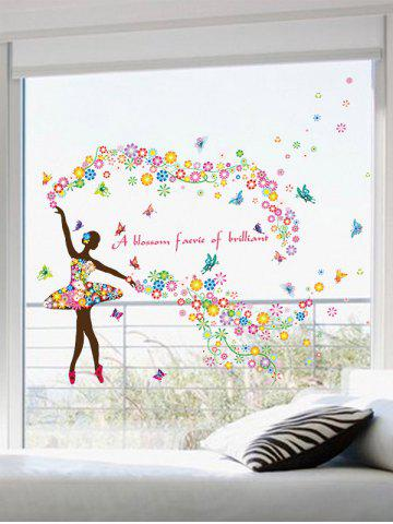 Cheap Dancing Girl Quotes Floral Butterfly Wall Sticker - 60*90CM COLORFUL Mobile