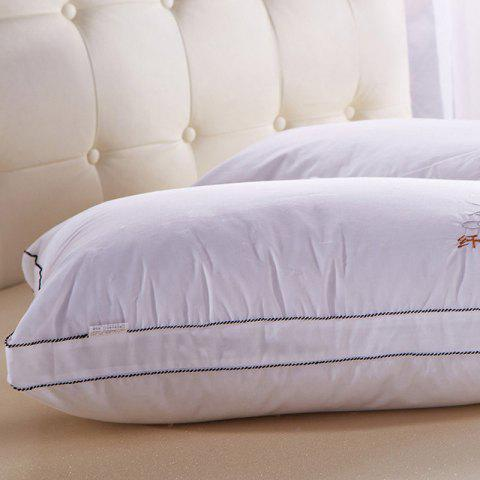Hot VIP Life Soft Close Skin Feather Fabric Pillow - WHITE  Mobile