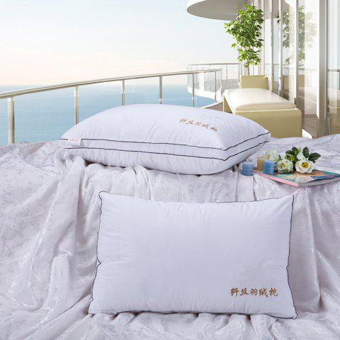 Buy VIP Life Soft Close Skin Feather Fabric Pillow - WHITE  Mobile