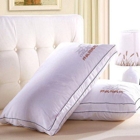 Store VIP Life Soft Close Skin Feather Fabric Pillow - WHITE  Mobile