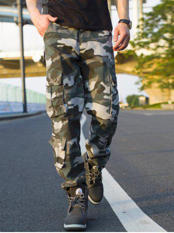 Trendy Muti-pocket Camouflage Cargo Pants - 32 ARMY GREEN CAMOUFLAGE Mobile